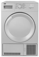 Beko 7kg 'B' Rated Sensor Condenser Tumble Dryer DTGC7000S (Silver)